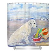 Beach Boy Shower Curtain