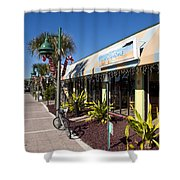 Beachland Boulevard At Vero Beach In Florida Shower Curtain