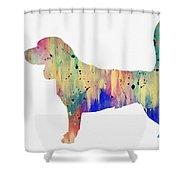 Beagle-colorful Shower Curtain