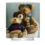 3 Bears Shower Curtain