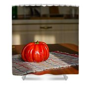 Beef Heart Tomato Shower Curtain
