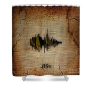 Believe Recorded Soundwave Collection Shower Curtain