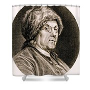 Benjamin Franklin, American Polymath Shower Curtain