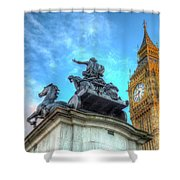 Big Ben And Boadicea Statue  Shower Curtain