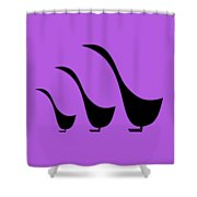 3 Birds  Shower Curtain