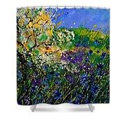 Blue Cornflowers  Shower Curtain