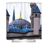 Blue Mosque-- Sultan Ahmed Mosque Shower Curtain
