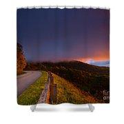Blue Ridge Parkway. Shower Curtain by Itai Minovitz