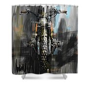 Bmw Motorcycle Shower Curtain