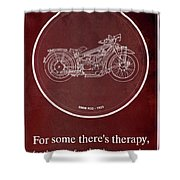 Bmw R32 1923 - For Some There's Therapy, For The Rest Of Us There's Motorcycles Shower Curtain