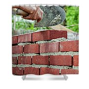 Bricklaying Shower Curtain