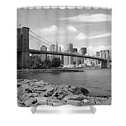 Brooklyn Bridge - New York City Skyline Shower Curtain