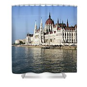 Budapest, Parliament Building  Shower Curtain