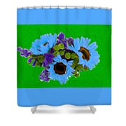 Bunch Of Pretty Flowers Shower Curtain