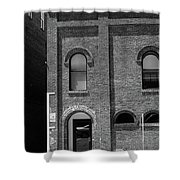 Burlington North Carolina - Arches And Alley Bw Shower Curtain
