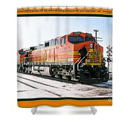 Burlington Northern Santa Fe Bnsf - Railimages@aol.com Shower Curtain