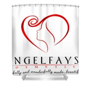 Red And White Angelfayss Shower Curtain