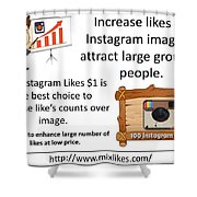 Buy Instagram Likes $1 Shower Curtain