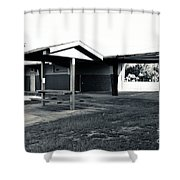 3 Bw George Washington High School Shower Curtain