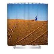 Tracks In The Sahara Shower Curtain