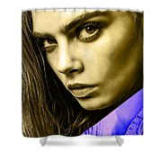 Cara Delevingne Collection Shower Curtain