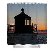 Castle Hill Light Newport Rhode Island Shower Curtain