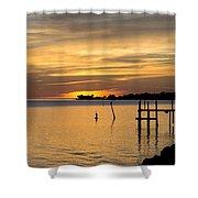 Cedar Key Sunset Shower Curtain