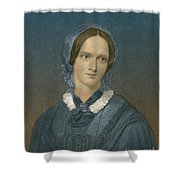 Charlotte Bronte, English Author Shower Curtain