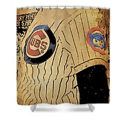 Chicago Cubs Baseball Team Vintage Card Shower Curtain