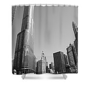 Chicago River And Skyline Shower Curtain