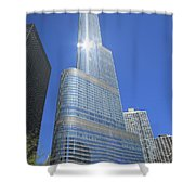 Chicago Skyscraper Shower Curtain