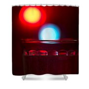 Christmas Theme Glass Of Water Shower Curtain
