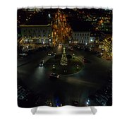 Christmas Lights, Looking West Shower Curtain