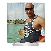 Christopher Oyolokor Shower Curtain