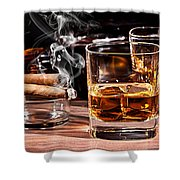 Cigar And Alcohol Collection Shower Curtain
