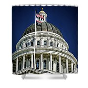 City Views Around California State Capitol Building In Sacrament Shower Curtain