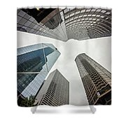 Cloudy And Rainy Day In Seattle Washington Shower Curtain