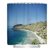 Coast And Beach View Near Dili In East Timor Leste Shower Curtain