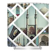 Collage Of Iran Images  Shower Curtain