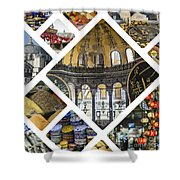 Collage Of Istanbul  Shower Curtain
