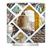 Collage Of Kathmandu  Shower Curtain