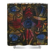 Collection Of Figurines Shower Curtain