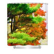 3 Colors Of The Nature 1 Shower Curtain