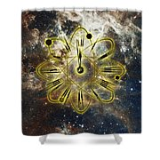 Conceptual Illustration Of Atomic Clock Shower Curtain