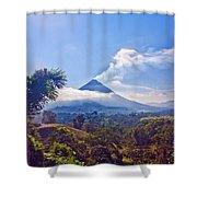 Costa Rica Volcano Shower Curtain