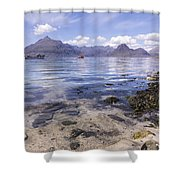 Cuillin Mountains From Elgol Shower Curtain