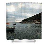 Cunski Beach And Coastline, Losinj Island, Croatia Shower Curtain