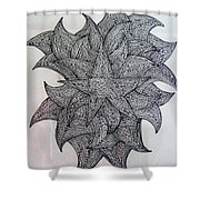 3 D Sketch Shower Curtain