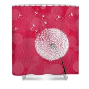 Dandelion Flying Shower Curtain