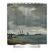 Danish Seascape Shower Curtain